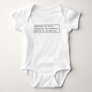 Muslim-in-solidarity light apparel baby bodysuit