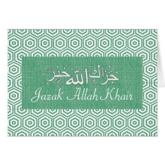 Muslim thank you card