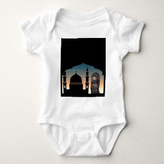 Muslim woman in black costume baby bodysuit
