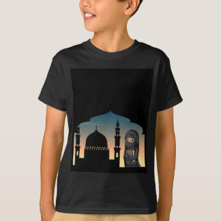 Muslim woman in black costume T-Shirt