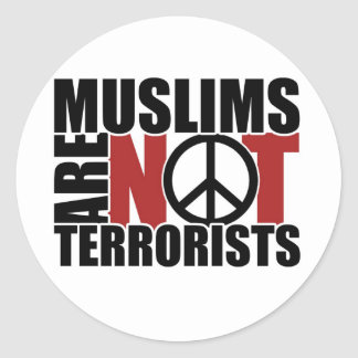 Muslims are not terrorists sticker