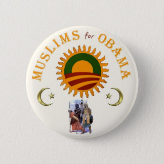 Muslims for Obama 2 Inch Round Button