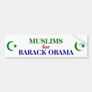 MUSLIMS FOR OBAMA BUMPER STICKER