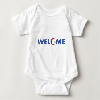 Muslims welcome here baby bodysuit