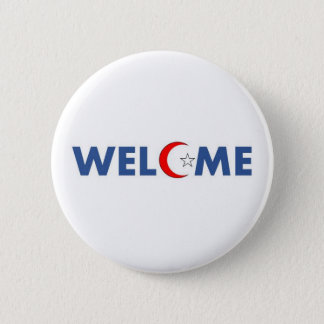 Muslims welcome in the USA 2 Inch Round Button