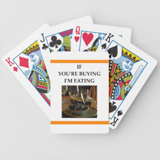 mussles bicycle playing cards