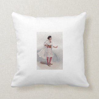 MUSSULMAN LADY OF NORTHERN INDIA THROW PILLOW