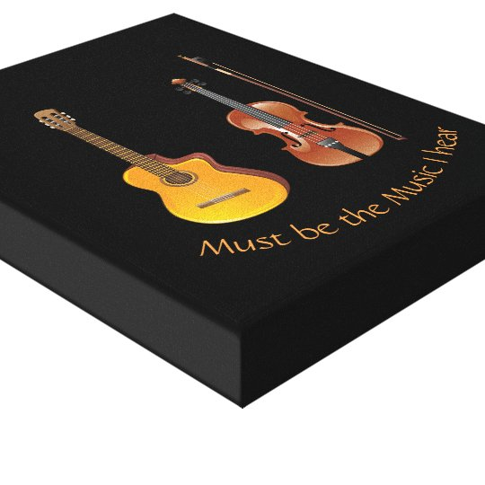 Must be the Music I hear Canvas Print