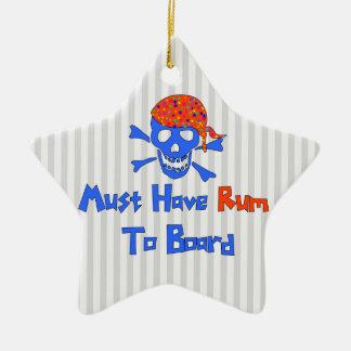 Must Have Rum Ceramic Ornament