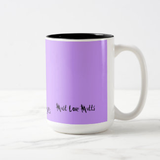 Must Love Mutts Two-Tone Coffee Mug