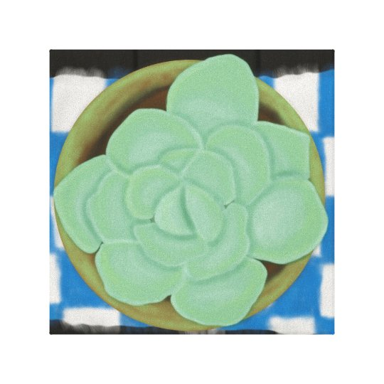 Must Love Succulents Canvas Print