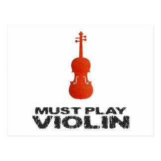 Must Play Violin Postcard