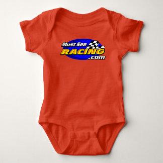 Must See Racing red onsie Baby Bodysuit