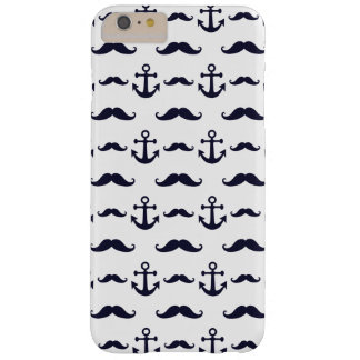 Mustache and anchor barely there iPhone 6 plus case