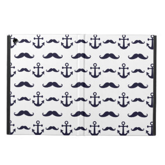 Mustache and anchor iPad air cover