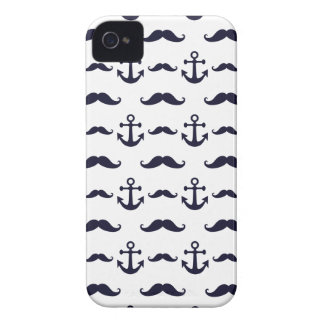 Mustache and anchor iPhone 4 covers