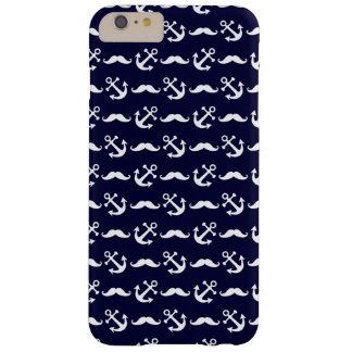 Mustache and anchor pattern barely there iPhone 6 plus case