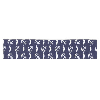 Mustache and anchor pattern short table runner