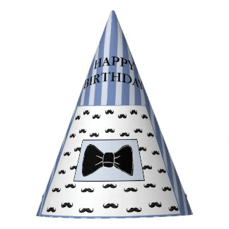 Mustache and Bow Tie Birthday Party Hat