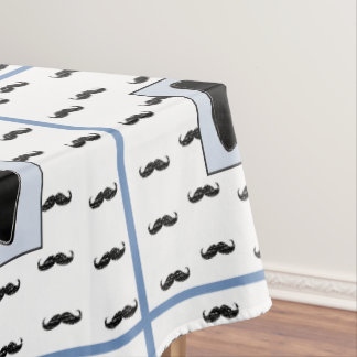 Mustache and Bow Tie Table Cloth