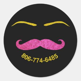 Mustache and Eyebrows - custom design request Round Sticker
