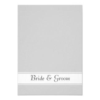 Mustache and Lip Wedding 5x7 Paper Invitation Card