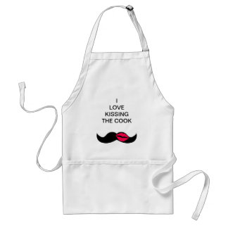 mustache and lips standard apron