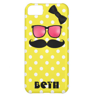 Mustache and Polka Dots iPhone 5C Cover