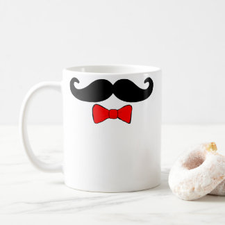 Mustache and Red Bowtie Coffee Mug
