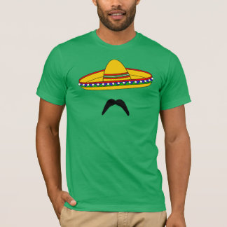 Mustache and Sombrero Cinco de Mayo Fiesta T-shirt