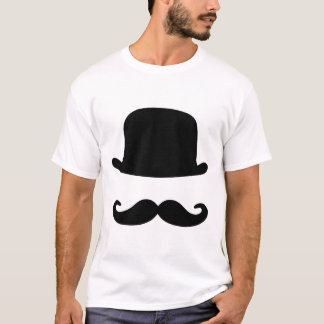 Mustache and Top Hat Men's T-Shirt