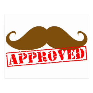 Mustache Approved Postcard