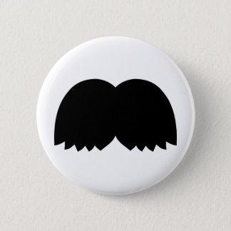Mustache beard 2 inch round button