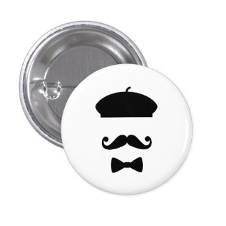 Mustache & Beret Pictogram Button