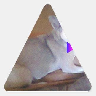 Mustache & bowtie Chihuahua Triangle Stickers