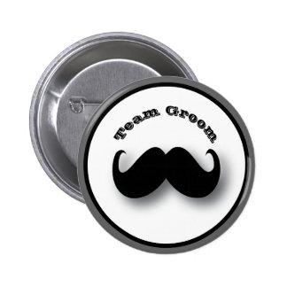 Mustache Button - Team Groom