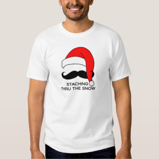 Mustache Christmas - Staching thru the snow Shirt