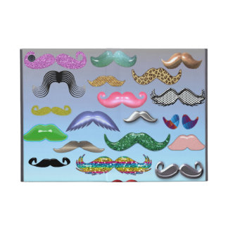 Mustache Collage Customize iPad Case
