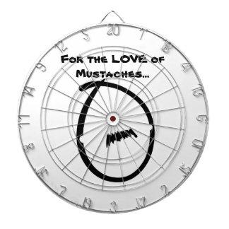 Mustache Dart Board