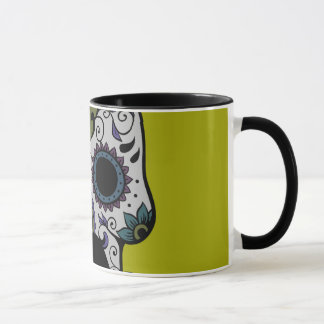 Mustache Day of the Dead Mug