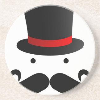 Mustache Design Coaster