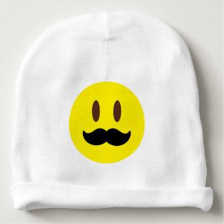 Mustache Emoji Guy Baby Beanie