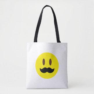 Mustache Emoji Tote Bag