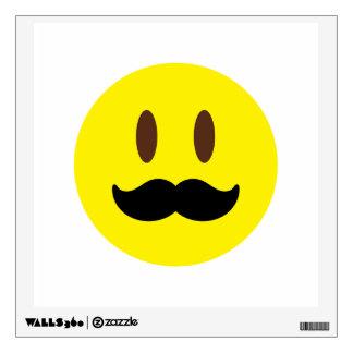 Mustache Emoji Wall Decal