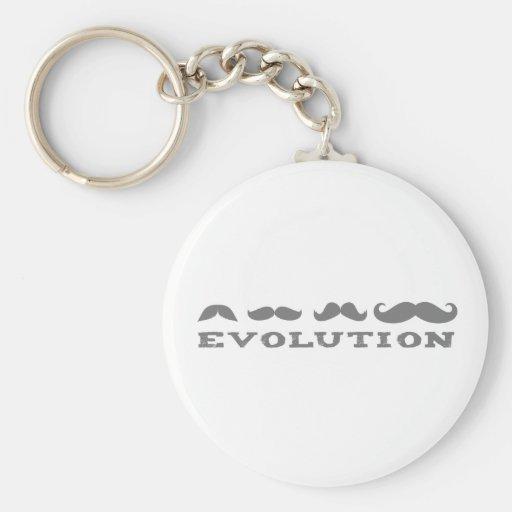 Mustache Evolution Keychains