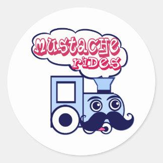 Mustache Express Classic Round Sticker