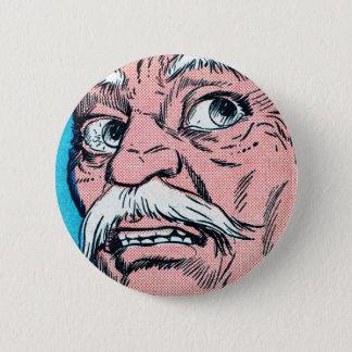 Mustache Face 2 Inch Round Button