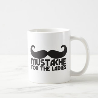 Mustache for the ladies classic white coffee mug