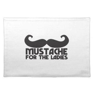 Mustache for the Ladies Moustache NP design Place Mat