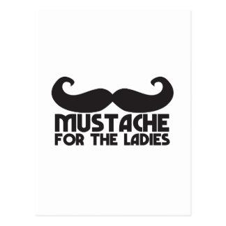 Mustache for the Ladies Moustache NP design Postcard